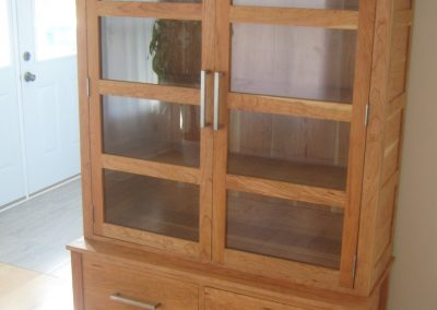 Bookcase, Displaycase in cherry