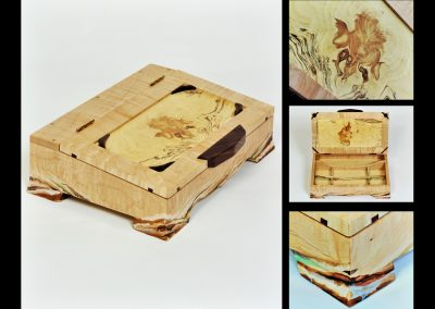 D SYMES MAPLE JEWELRY BOX (3)