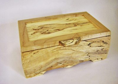 DOUG SYMES SPALTED MAPLE JEWELRY BOX