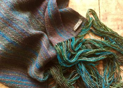 Hand spun/hand woven shawl