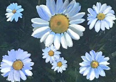 MacPherson Daisies Dancing Acrylic 16 x 16
