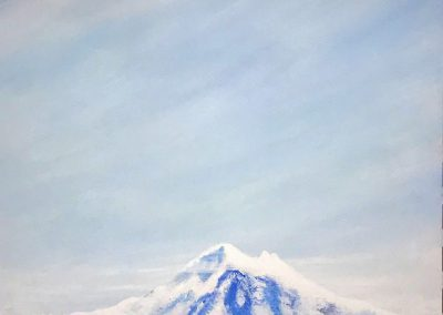 MacPherson Mount Baker in the Clouds Acrylic on Canvas 36 x 48