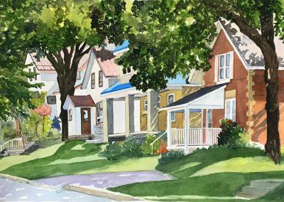 MacPherson Third Street, Midland Watercolour 15 x 22