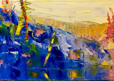 Slater, Hilary, Blue Lake Oil, 24x30 2019